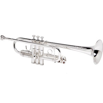 "B&S ""Challenger II"" Professional C Trumpet - Silver Plating"