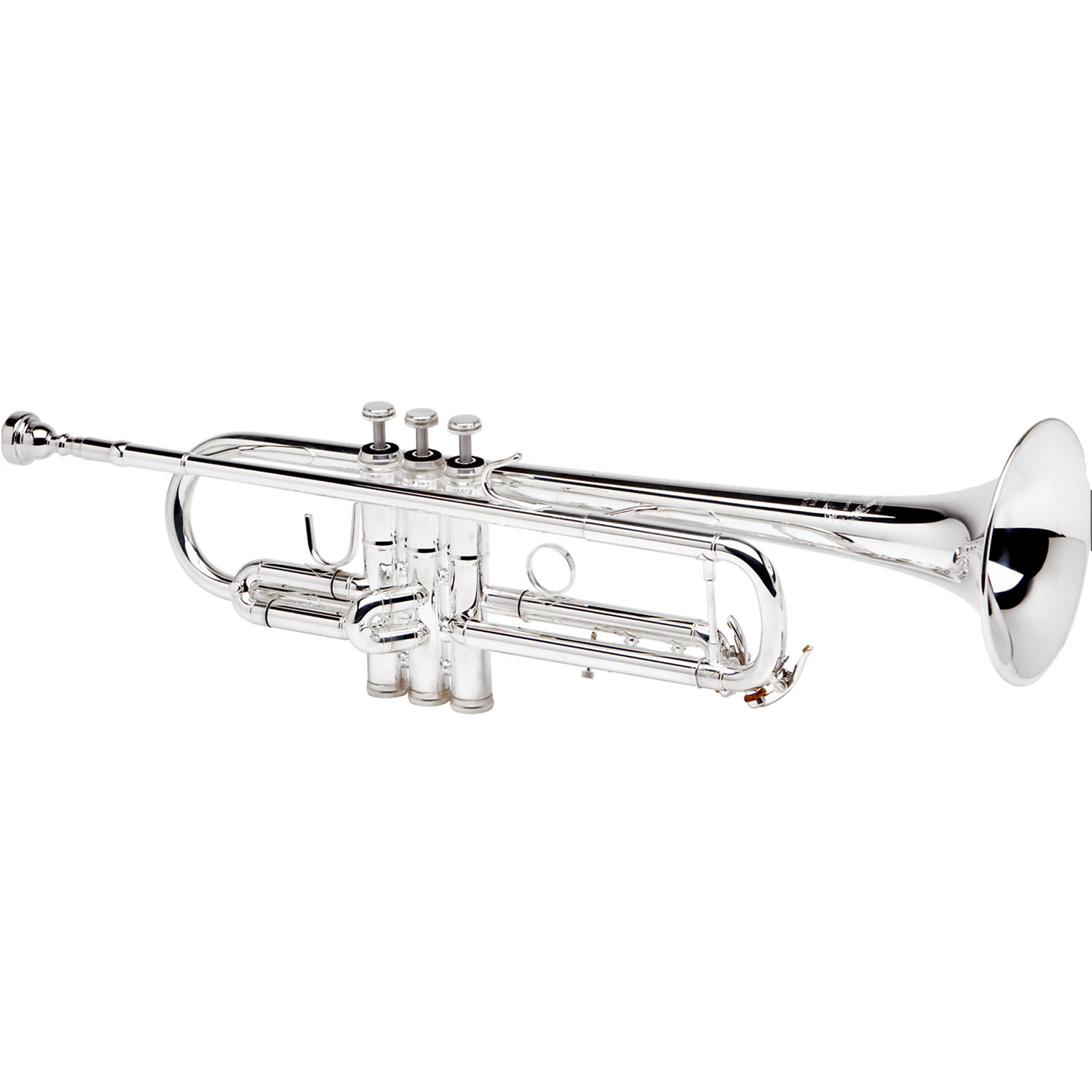 """B&S """"Challenger II"""" Professional Bb Trumpet - #25 Bell - Silver Plating - Reverse Leadpipe"""