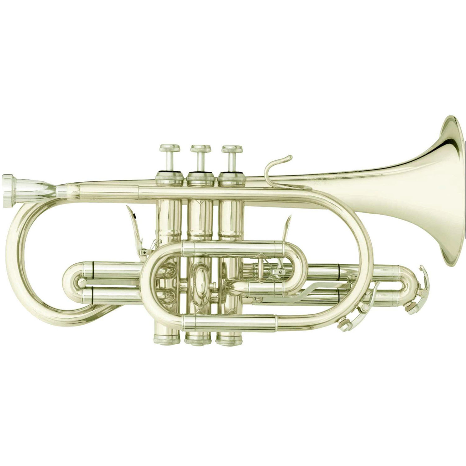 "B&S ""Challenger II"" Brochon Series Professional Cornet - Silver Plating"
