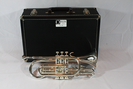 F.E.  Olds Intermediate Cornet, Silver Plated - NL5MS