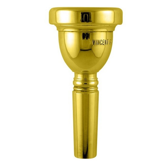 Bach Gold-Plated Small Shank Tenor Trombone Mouthpieces