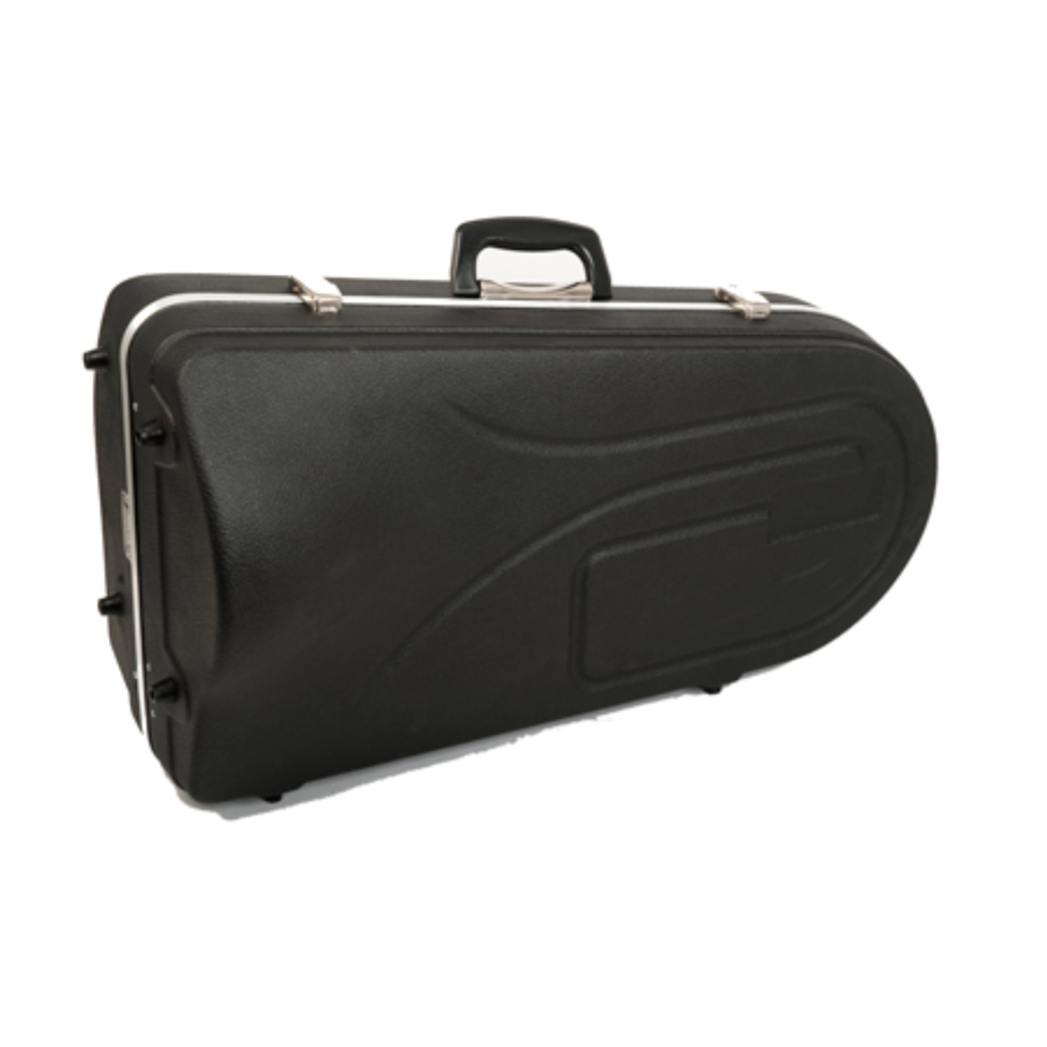 Hiscox Tenor Horn Case - Black Exterior with Silver Interior