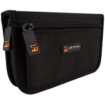 Pro Tec Nylon Zippered Trumpet Mouthpiece Pouch - Holds 4 Mouthpieces