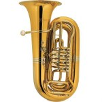 Cerveny 3/4 BBb Tuba - Nickel Silver Bell Wreath