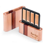 Bambu Hand-Crafted Hardwood Bb Clarinet/Soprano Saxophone Reed Case - Holds 8 Reeds