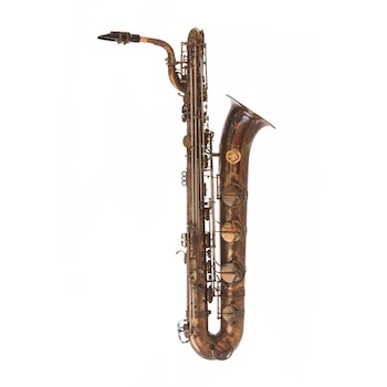 Dakota Raw Bronze Baritone Saxophone - Low A