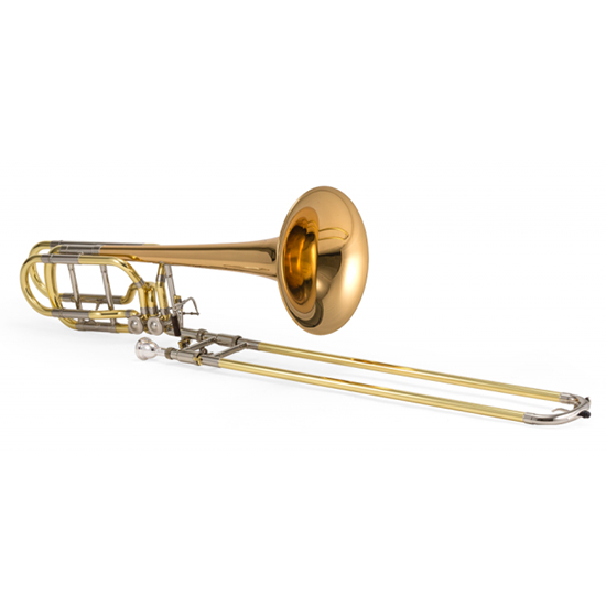 Jupiter XO Professional Bass Trombone - Dual Independent Inline Rotors - Rose Brass Bell