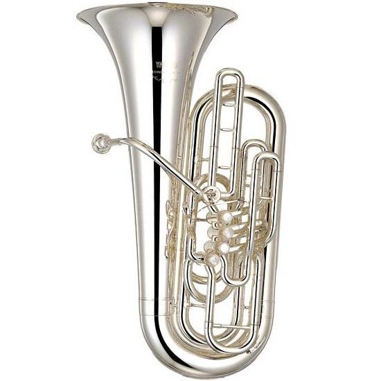 Yamaha Professional F Tuba, 3/4 Size [Silver Finish]