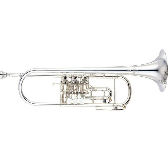 Yamaha Custom Rotary Valve Bb Trumpet - Silver Plating