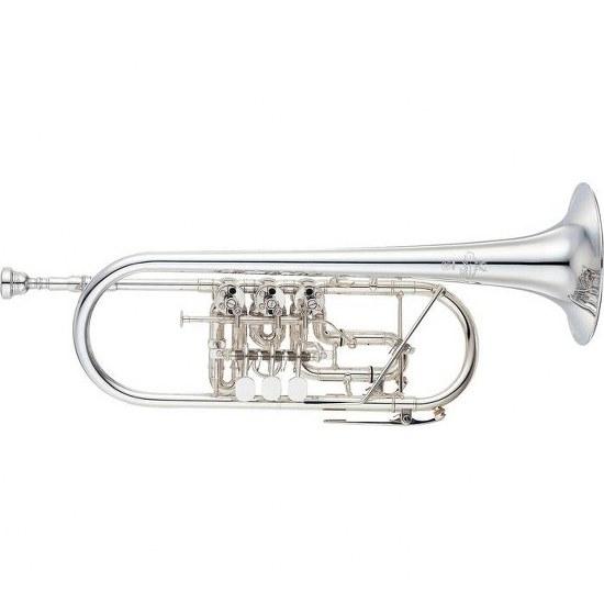 Yamaha Custom Rotary Valve C Trumpet - Silver Plating