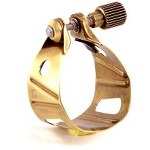 BG Metal Jazz Alto/Tenor Saxophone Ligature and Cap - Gold