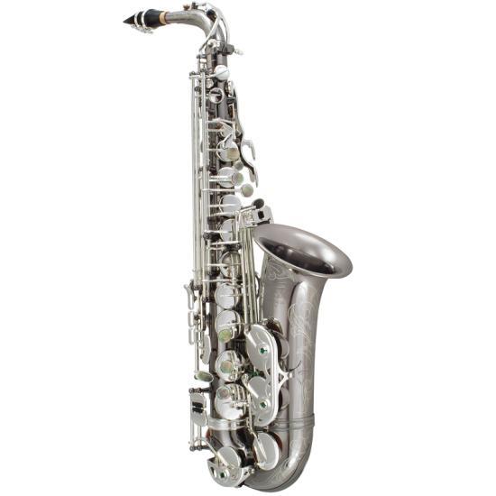 "P. Mauriat ""The Black Pearl"" Alto Saxophone - Black Nickel Silver Finish"