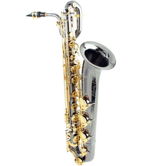 Antigua Power Bell Baritone Saxophone - Black Nickel Finish w/ Gold Keys