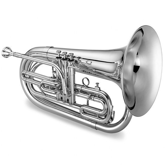 Jupiter Quantum Bb Marching Baritone [Silver Plated]