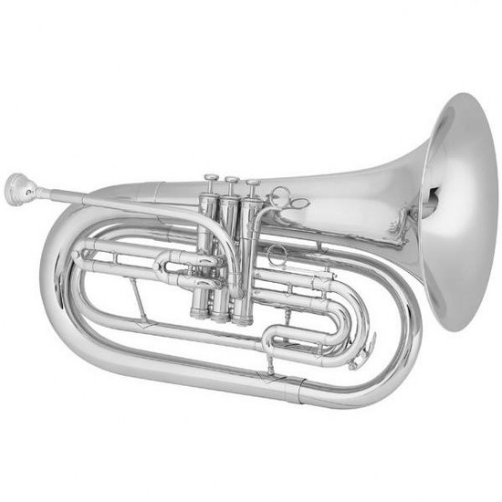 "King ""Ultimate"" Marching Baritone - Small Shank / Silver-Plated"