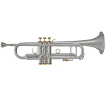 Blessing Intermediate Trumpet [Silver Finish with Gold Accents]
