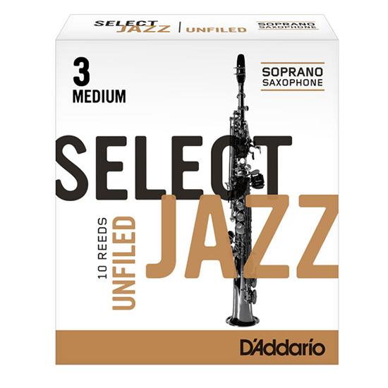 D'Addario (Rico) Select Jazz Soprano Saxophone Reeds - Unfiled