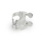 Rico H-Ligature and Cap for Alto Saxophone - Silver Plated