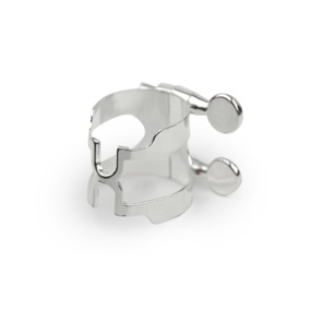 Rico H-Ligature and Cap for Eb Clarinet - Silver Plated