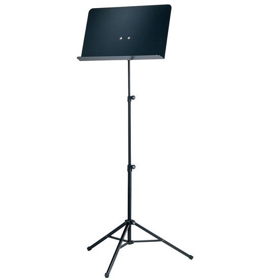 K&M Folding Music Stand with Solid Aluminum Desk