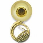 Jupiter Quad Series 4-valve Sousaphone - Lacquer Finish - Wheeled Case