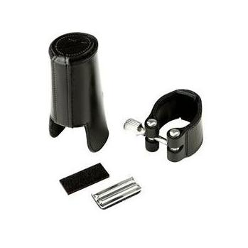 Vandoren Leather Ligature for Bass Clarinet - Plastic or Leather Cap