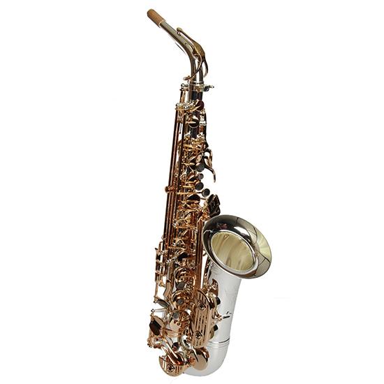 Dakota Alto Saxophone -  Black/Silver Finish