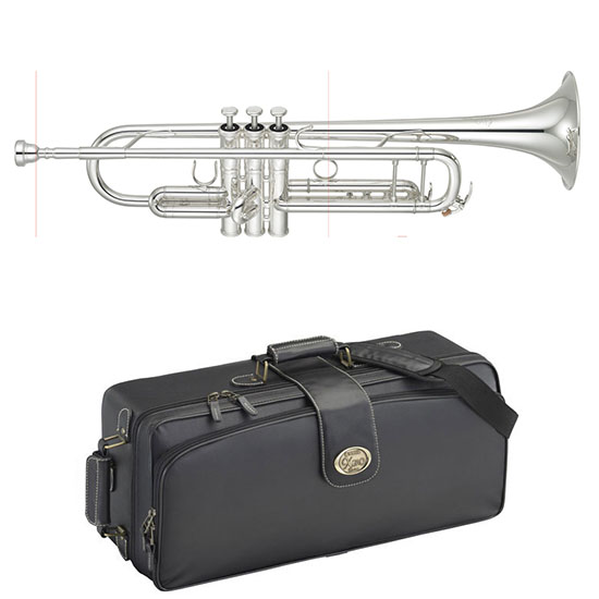 Yamaha Xeno II Professional Bb Trumpet - Gold Brass Bell/Silver - Newly Redesigned!