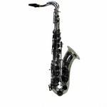 """LA Sax BIG LIP """"X"""" Tenor Saxophone - Silver w/ Black Keys"""