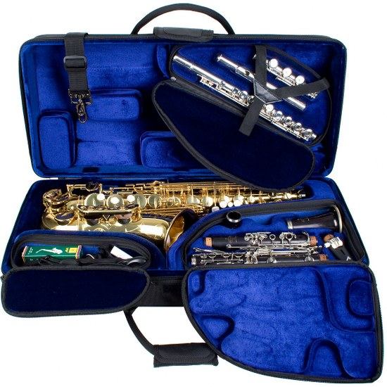 Pro Tec Alto Saxophone/Clarinet/Flute Tri-Pac Case