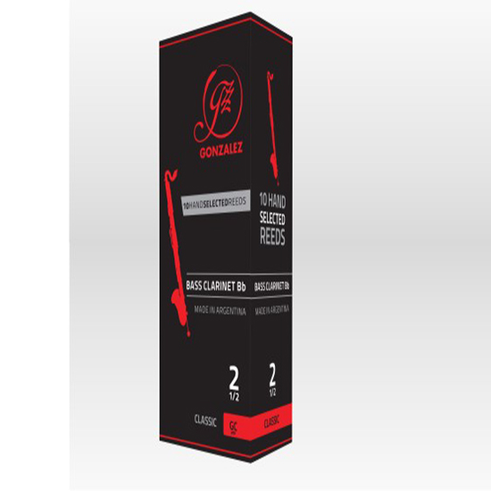Gonzalez Classic Bass Clarinet Reeds - Box of 5