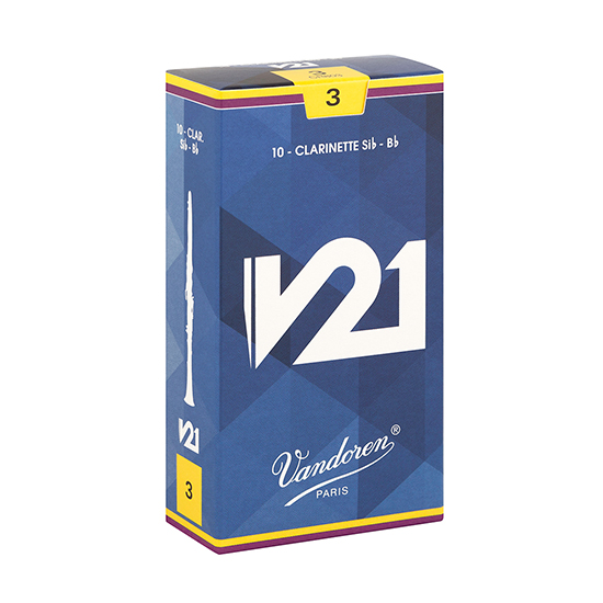 Vandoren V21 Bb Clarinet Reeds - Box of 10